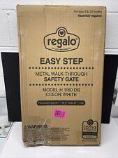 Regalo Easy Step 38.5-Inch Extra Wide Walk Thru Baby Gate, White