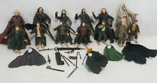 LORD OF THE RINGS TOY BIZ LOT  ARAGORN STRIDER Hobbits Saurmon King Accessories