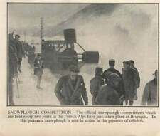 1936  Snowplough Competition In The French Alps Briancon