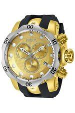 Invicta 16151 Men's Venom Dive Chronograph Gold Dial Black Rubber Strap Watch