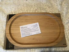 NIB Pampered Chef Bamboo Appetizer Platter #2439 Retired