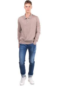 RRP €330 BALLANTYNE Cashmere & Silk Polo Jumper Size 54 / XL Thin Knit Melange