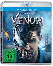 Venom Blu-ray 3D + 2D All Region ABC Euro Release Multi Language Audio Subtitles