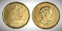 Canada 2004 Olympic Lucky Loonie BU UNC From Mint Roll!!