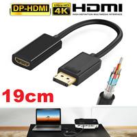 ✅Premium DisplayPort HDMI Kabel Video Converter Adapter DP PC Computer 4K FullHD