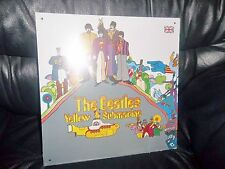 "THE BEATLES METAL "" YELLOW SUBMARINE "" ALBUM SLEEVE WALL SIGN - PLAQUE APPLE"