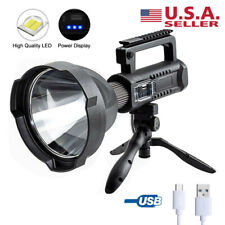 350000LM P50 LED Work Lights Spotlight USB Recharge Flashlight Searchlight Lamp