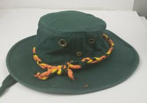 Vintage Tilly Endurables The Tilly Hat Sz 7&1/8 Airflow With Side Snaps Green