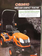 Product Brochure Kioti CS2610 Compact Tractor Sales Service & Parts .