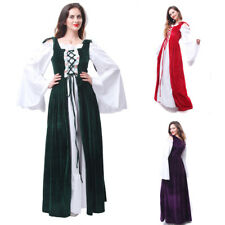 Vintage Women Hofadel Renaissance Medieval Game Gown Retro Cosplay Costume Dress