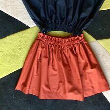 Gonna ZARA S nuova Raso Rossa Donna Skirt Jupe elastico vita alta highwaist Red