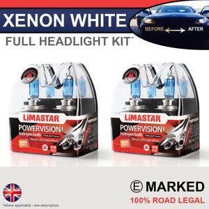 Volvo S60 10-on Xenon White Upgrade Kit Headlight Side Dipped High Bulbs 6000k