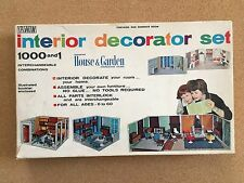 Vintage 1964 IRWIN INTERIOR DECORATOR SET #6503 KITCHEN Dollhouse Room Kit
