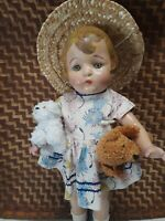 """1930s AMERICAN CHARACTER 16"""" compo SALLY DOLL VGUC, re-strung & spruced up!"""