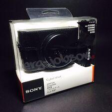 SONY LCJ-RXF Jacket Case w/ Shoulder Strap BLACK for RX100 Series Original New