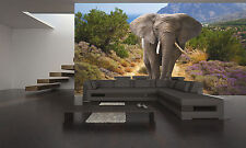 African Elephant Wall Mural Photo Wallpaper GIANT DECOR Paper Poster Free Paste