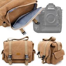 Tan Brown Canvas Carry Bag w/ Adjustable Compartments for Nikon D500 / D5 Camera