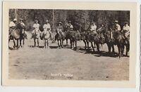 California Ca Real Photo RPPC Postcard 1947 TRINITY CENTER Scott's RANCH Horses