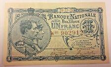 ==>> 1 Franc, 1920 1 Frank Biljet, België Belgique Belgium SUP <<===