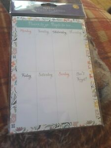 Meadow Design Magnetic A5 Weekly Planner Places to go, People to see