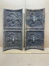 "2pc Lot 24"" x 11"" Urn Crown Molding Antique Ceiling Tin Vintage Reclaim Salvage"