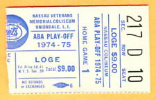 "SCARCE-1974/75 NY NETS ABA PLAYOFF GAME TICKET STUB VS. SPIRITS OF STL-""DR. J"""