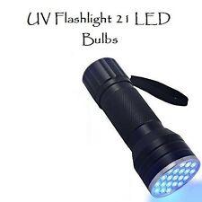 UV 21 LED Flashlight Blacklight for Detecting Household Mold