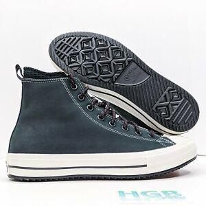 Converse Ctas Boot Hi Men's Chuck Taylor All Star Leather Black White 166607C