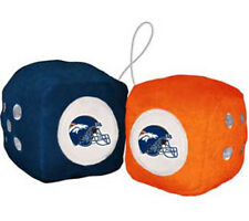 Denver Broncos Fuzzy Dice NFL Football Team Logo Plush Car Truck Auto