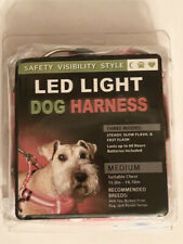 Led Light Dog Harness Medium Inspiration LLC Pink Three Modes Steady Flash Fast