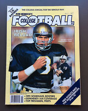 DON HEINRICH'S COLLEGE FOOTBALL Annual 1991 Rick Mirer Cover VG Condition