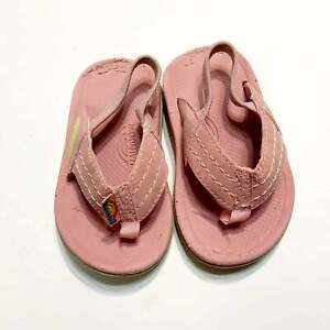 Baby Rainbow Pink Thong Sandals size 3/4 Baby Toddler Girls
