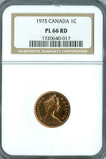 1975 CANADA CENT NGC PL66 RD SPOTLESS  *