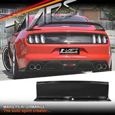 MARS Gloss Black Blank Rear Trunk Panel Lid Deck for Ford Mustang FM 2015-2018