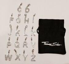 Thomas Sabo Sterling Silver Cubic Zirconia Letter Charms (N-Z Sold Individually)