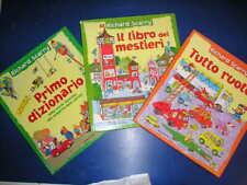 Lotto 3 libri RICHARD SCARRY Mondadori dizionario libro mestieri tutto ruote