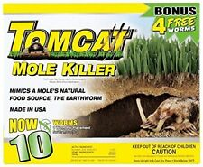 Tomcat Mole Killer 10-Pack Worm Formula BL34300 048745343006 -Fast Free Shipping