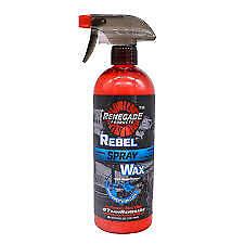 renegade rebel spray wax carnauba car truck matte paint semi protect detailer