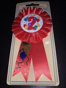 I Am 2 Award Ribbon Badge - Rosette - New