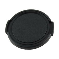 Camera Plastic Side Pinch Clip On Front Lens Cap Protective Cover Black 49m O0V3