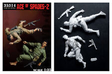 1/35 Scale Resin Figure kit VC Fighters Ace of Spades #2 Vietnam casualties