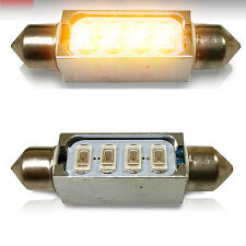 2x Amber LED 5730 SMD Light Bulb 42MM Festoon Door Map Lamp  578 212-2 DE4410