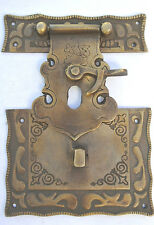 """Nice box Latch catch solid brass furniture antiques doors kitchen old style 3 """""""