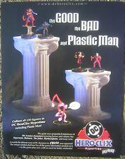 "2002 DC HEROCLIX Figures 8x11"" Mini Poster Advertising Sheet - The Joker, Batman"