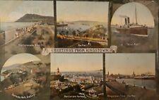 Greetings from Kingstown - Vintage postcard.