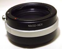 Nikon AF-S G Lens to Sony NEX E Camera Mount Adapter ILCE a6300 a5100 NEX 5T a7