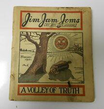 JIM JAM JEMS by JJ Junior Jokes Humour Stories Digest VG Feb 1921
