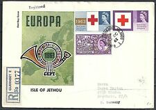 Isle of Jethou1963 both sides franked United Europe R-FDCcover