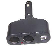 2 fach Adapter für KFZ Verteiler 12V Zigarettenanzünder Doppelstecker 2x USB