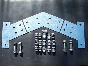 Industrial Carport Garage Shed Purlin Brackets Set 3-4inch Post x6inch CSection
